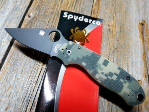 Spyderco Para 3 Camo Black